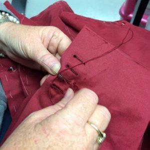 Hand sewn buttonholes