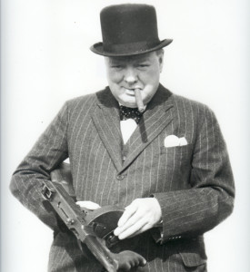 Winston Churchill in Henry Poole Suit
